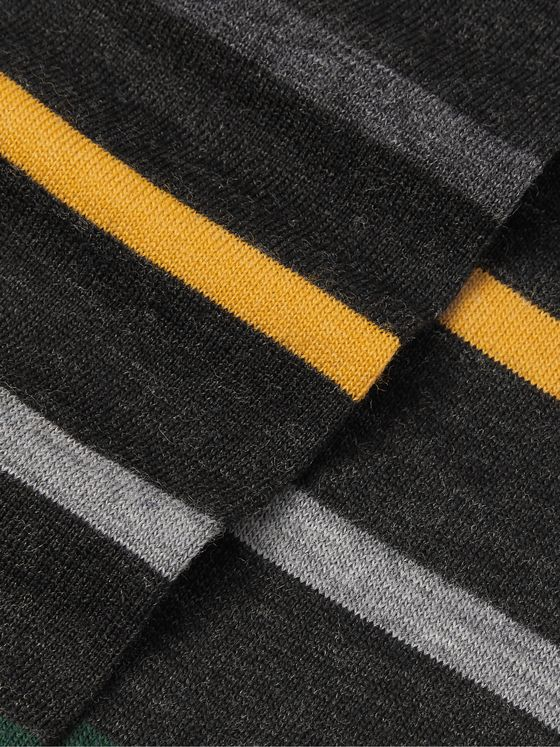 Corgi Striped Wool-Blend Socks