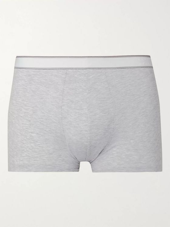Derek Rose Ethan Mélange Stretch-Cotton Boxer Briefs