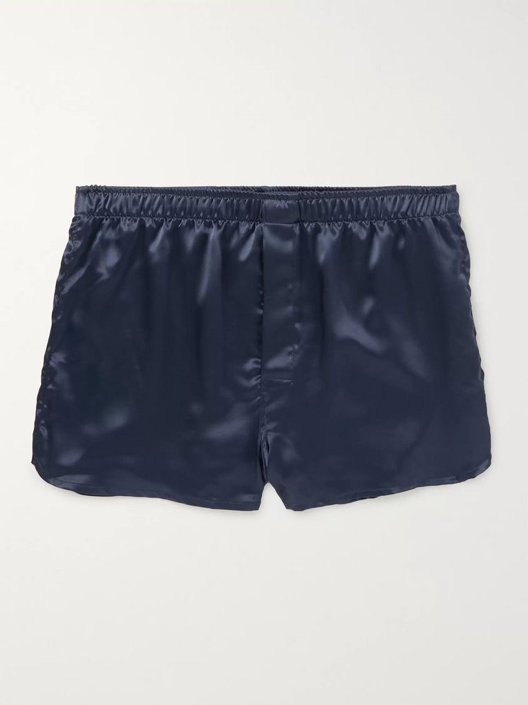 Derek Rose Nelson Silk-Satin Boxer Shorts