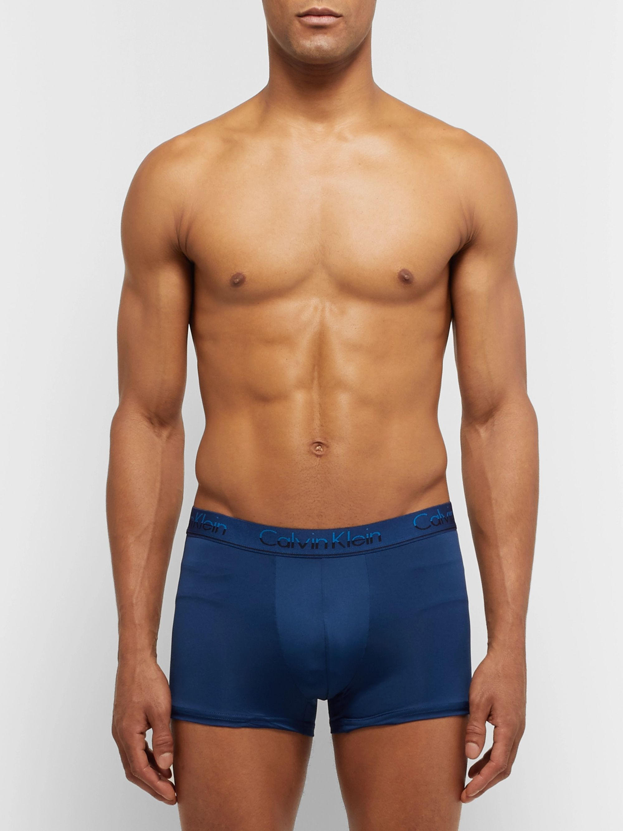 Calvin Klein Underwear Three-Pack Stretch-Cotton, Stretch-Modal and Cotton-Blend and Microfibre Boxer Briefs