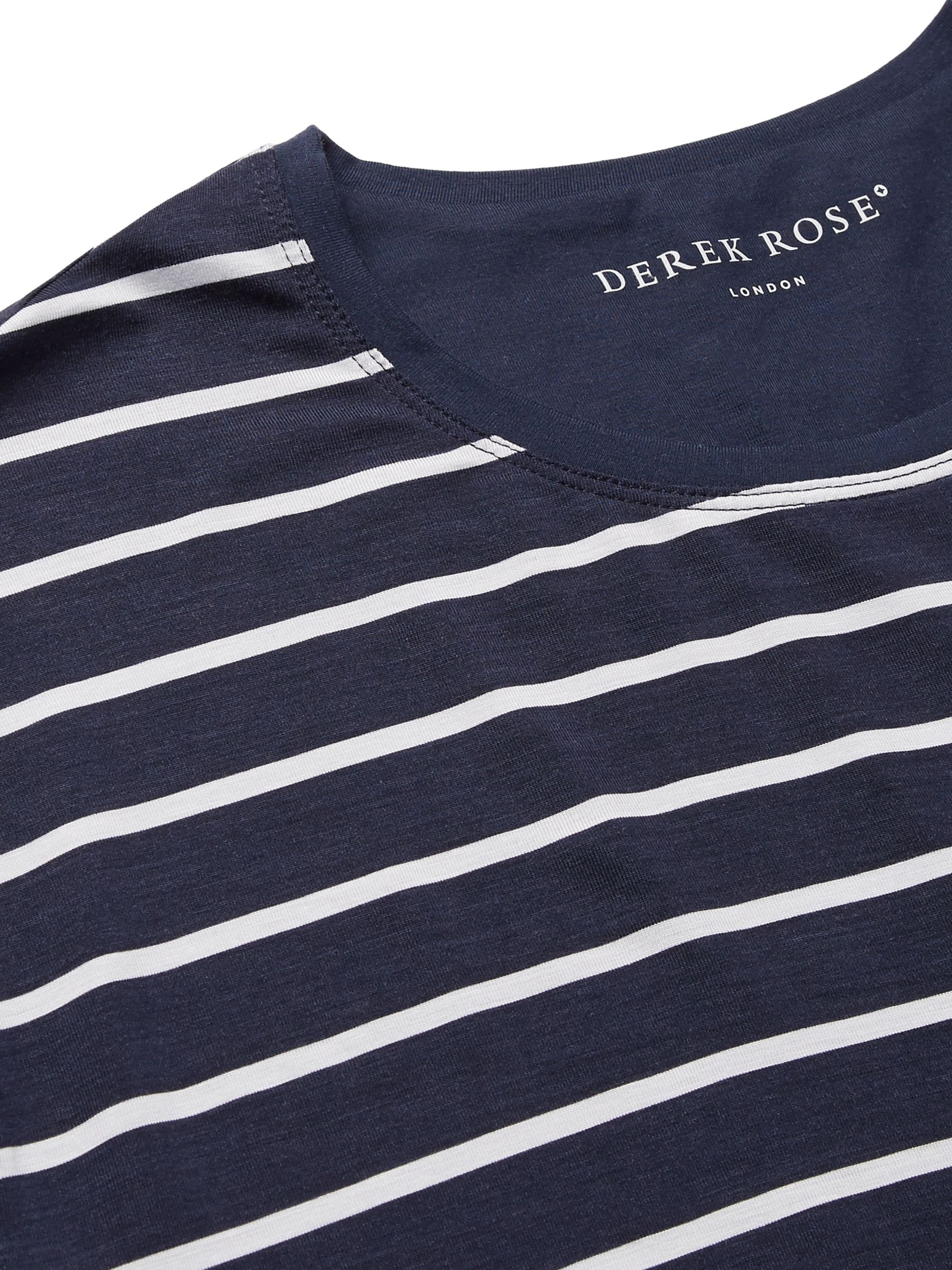 Derek Rose Alfie Striped Stretch-Micro Modal Jersey T-Shirt