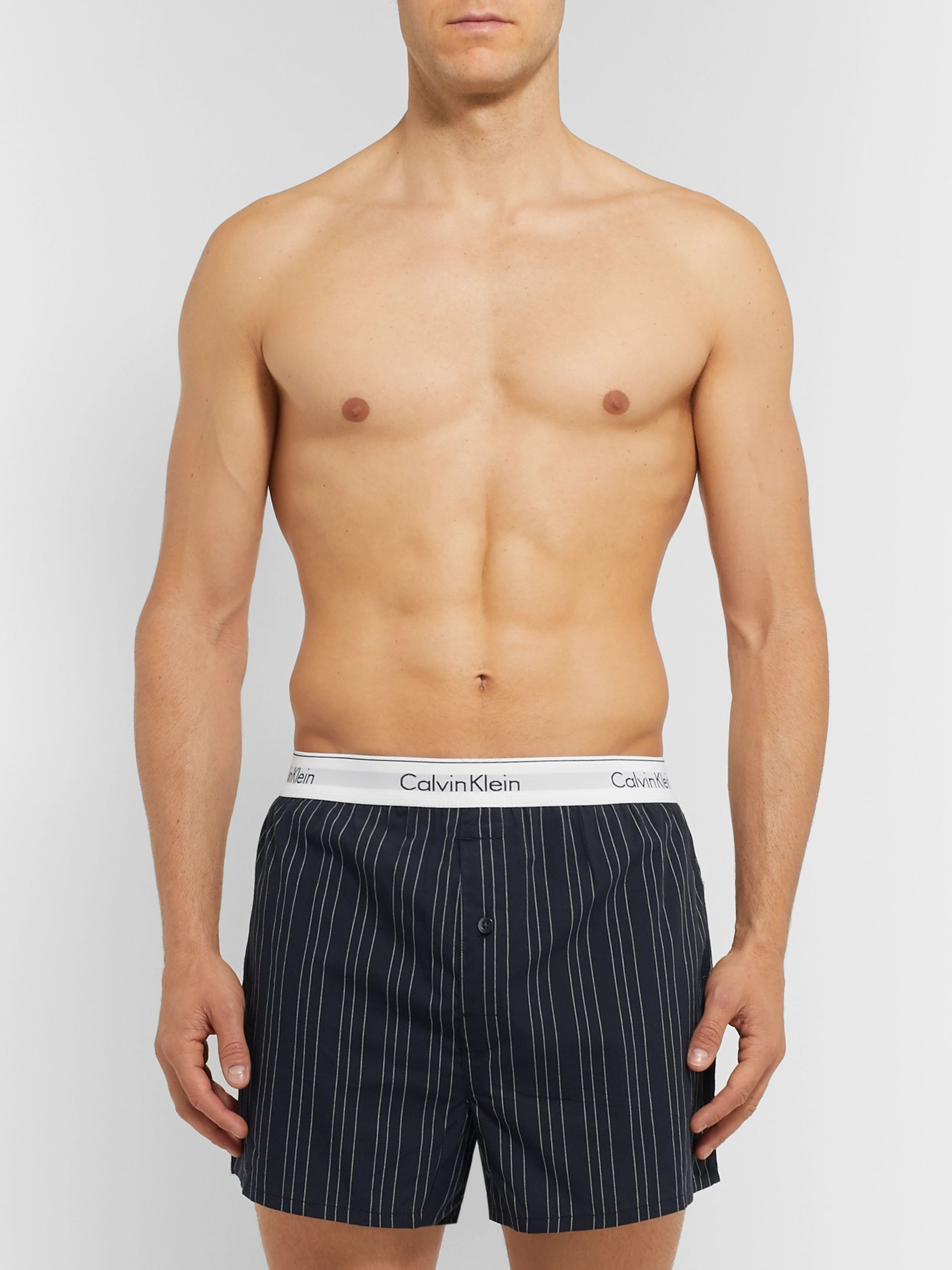 Calvin Klein Underwear Two-Pack Printed Cotton Boxer Shorts