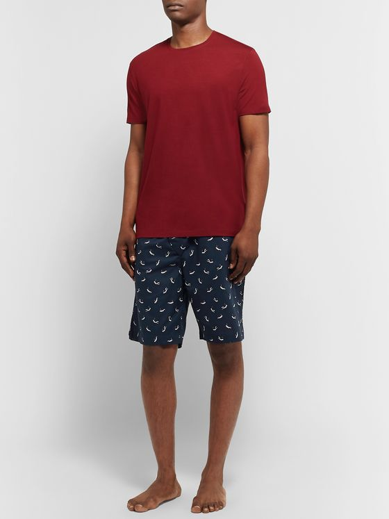 Derek Rose Nelson Printed Cotton-Batiste Pyjama Shorts