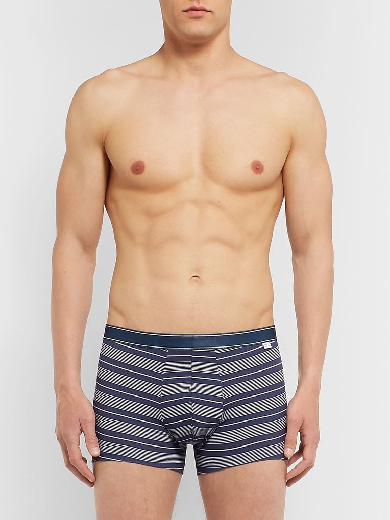 Derek Rose Striped Stretch-Cotton Boxer Briefs