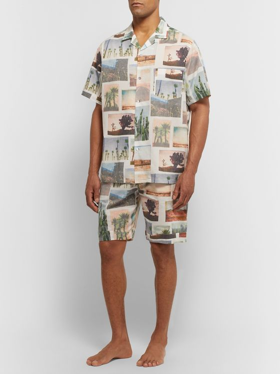 Desmond & Dempsey Printed Cotton Pyjama Shirt