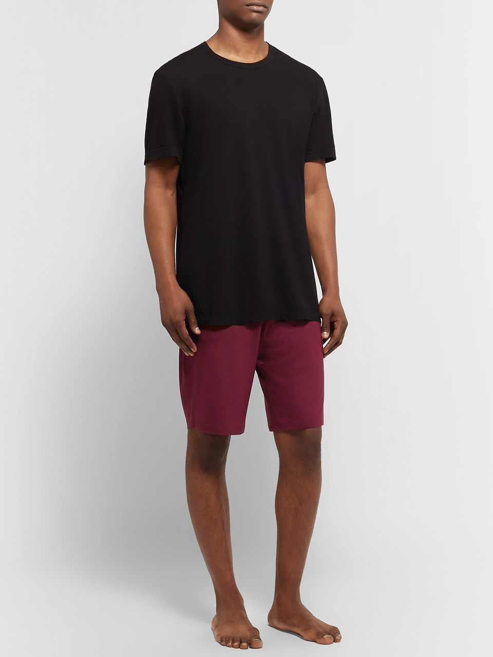 Derek Rose Basel Stretch-Micro Modal Jersey Drawstring Shorts