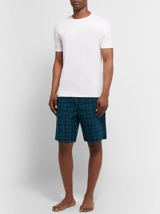 Derek Rose Barker Checked Cotton-Poplin Pyjama Shorts