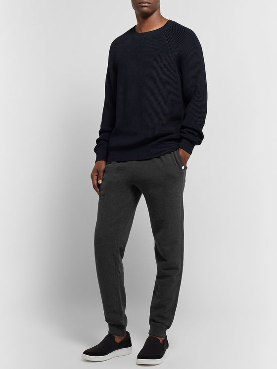 Derek Rose Devon Tapered Brushed Loopback Cotton-Jersey Sweatpants