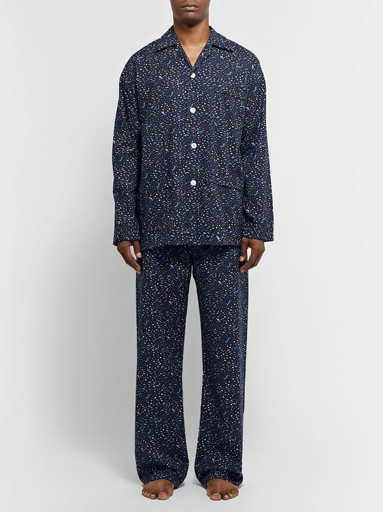 Derek Rose Ledbury Printed Cotton-Poplin Pyjama Set