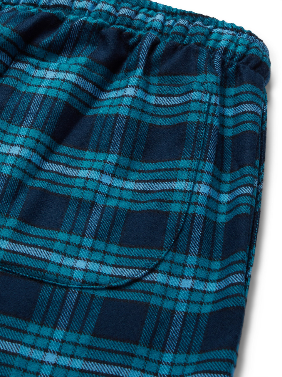 Derek Rose Kelburn Checked Cotton-Flannel Pyjama Trousers