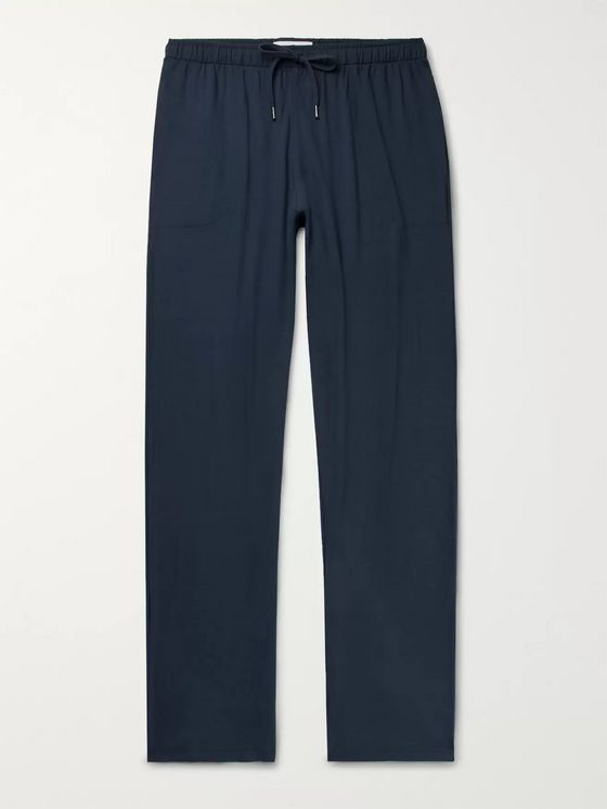 Derek Rose Basel Stretch-Micro Modal Jersey Drawstring Trousers