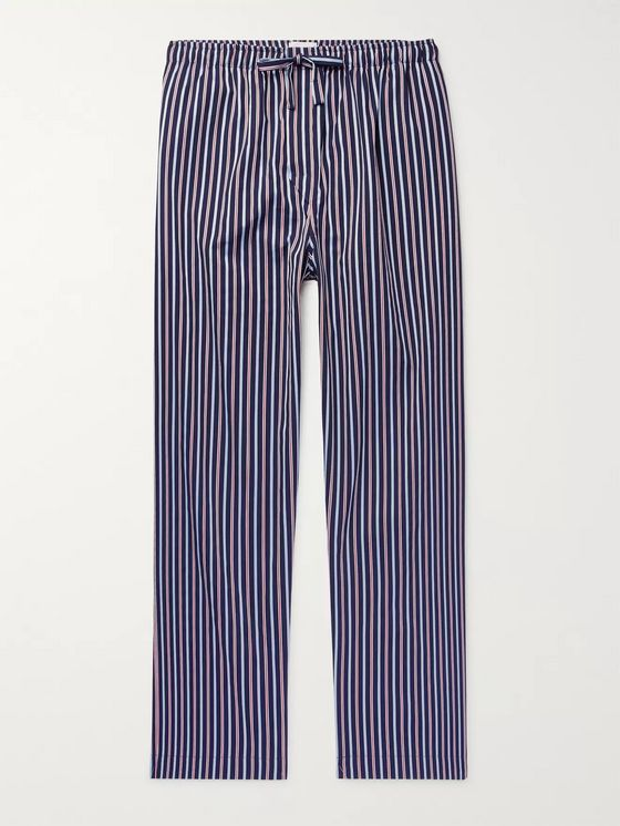 Derek Rose Royal Striped Cotton-Satin Pyjama Trousers