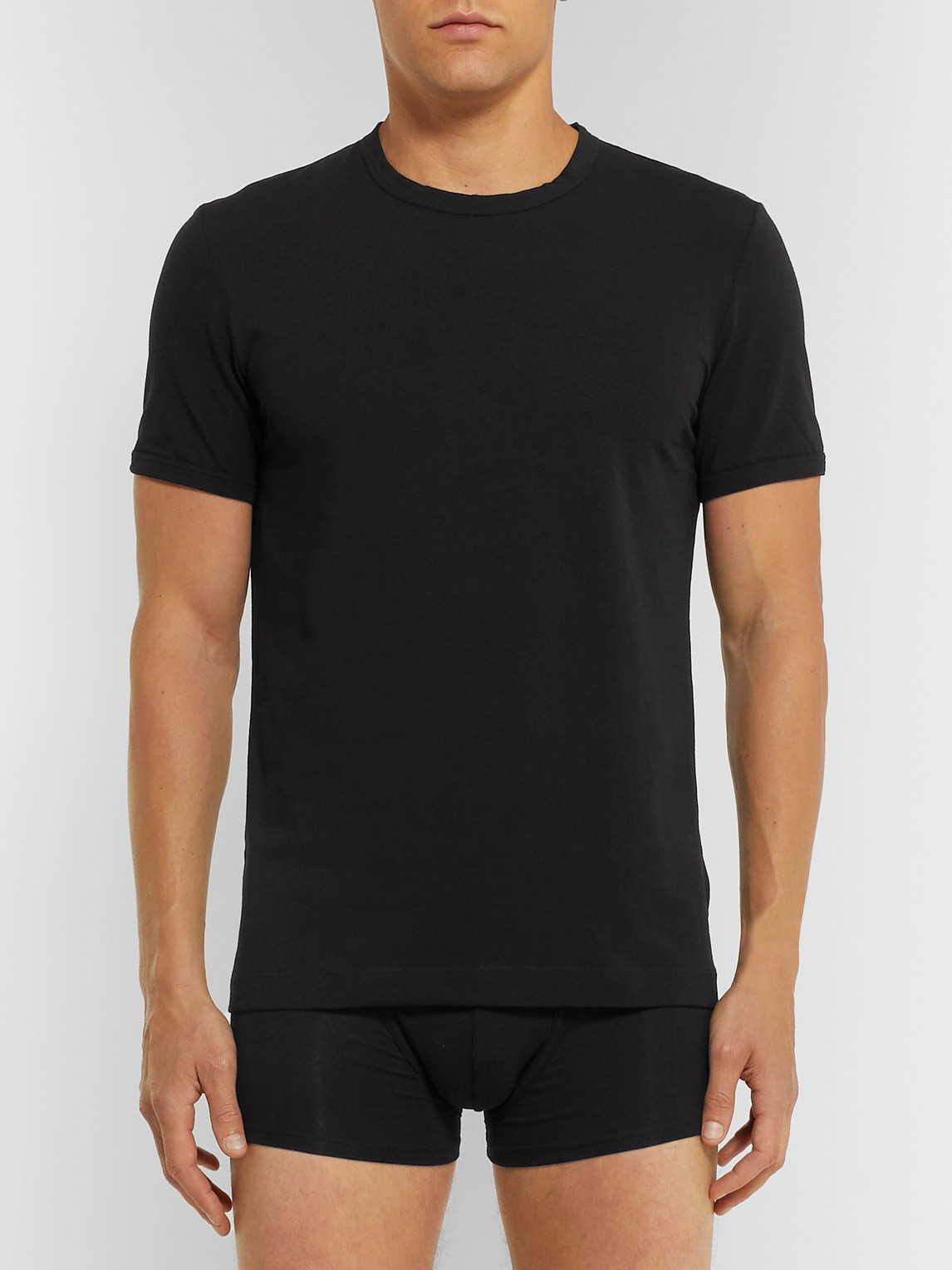 Dolce & Gabbana T-shirts STRETCH-COTTON JERSEY T-SHIRT