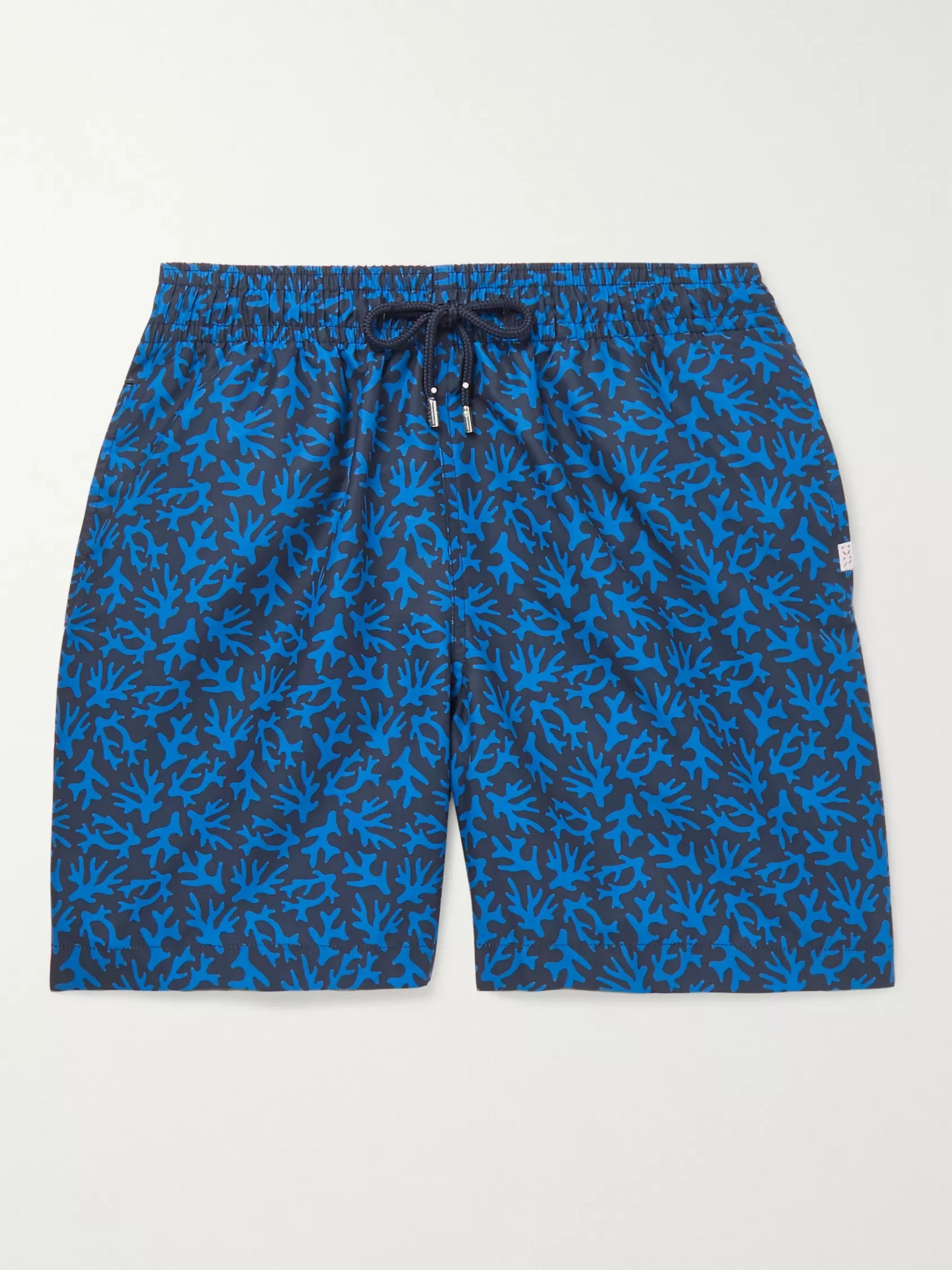 Derek Rose Maui Wide-Leg Mid-Length Printed Swim Shorts