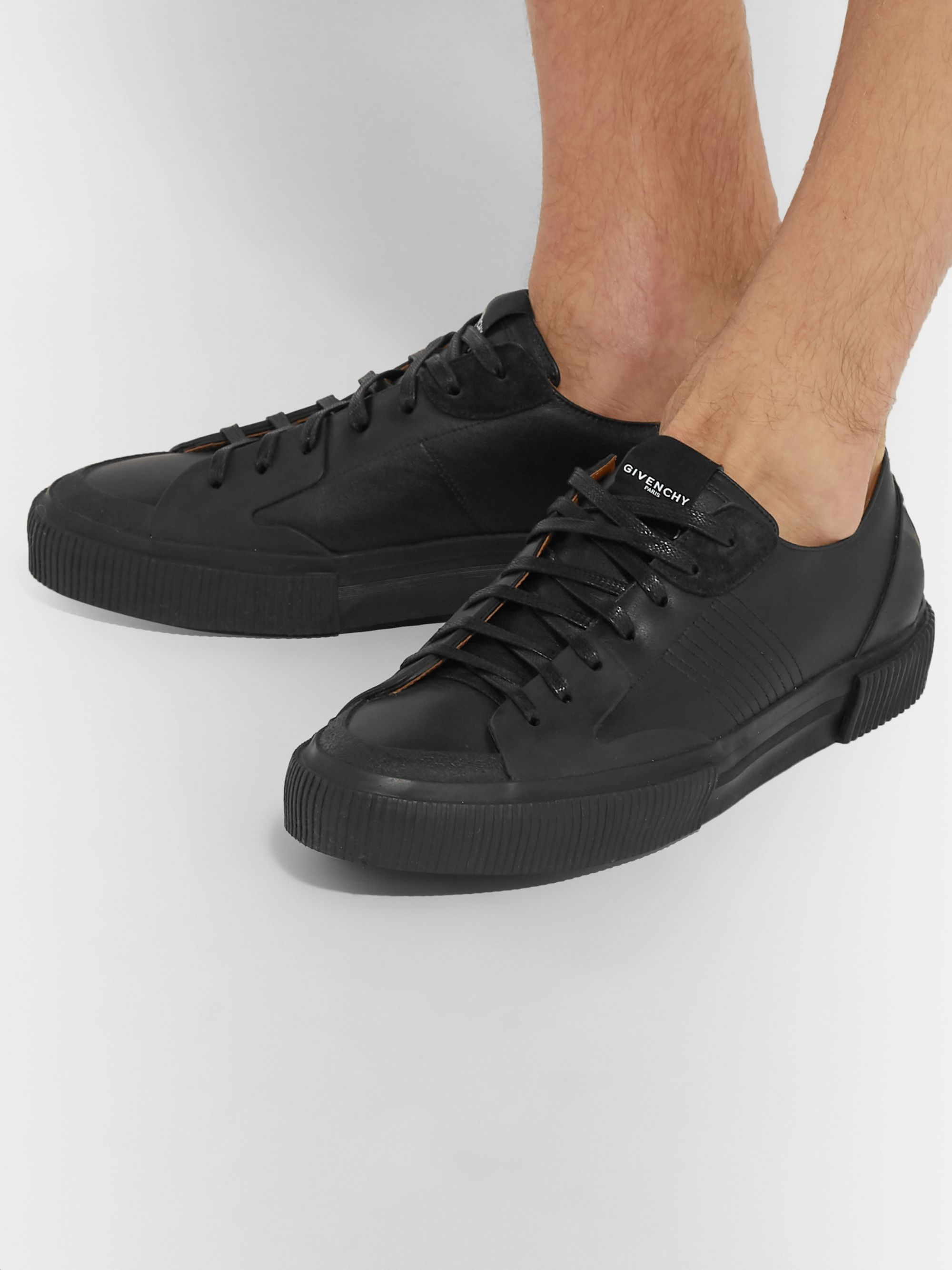 Givenchy Leather and Suede Sneakers