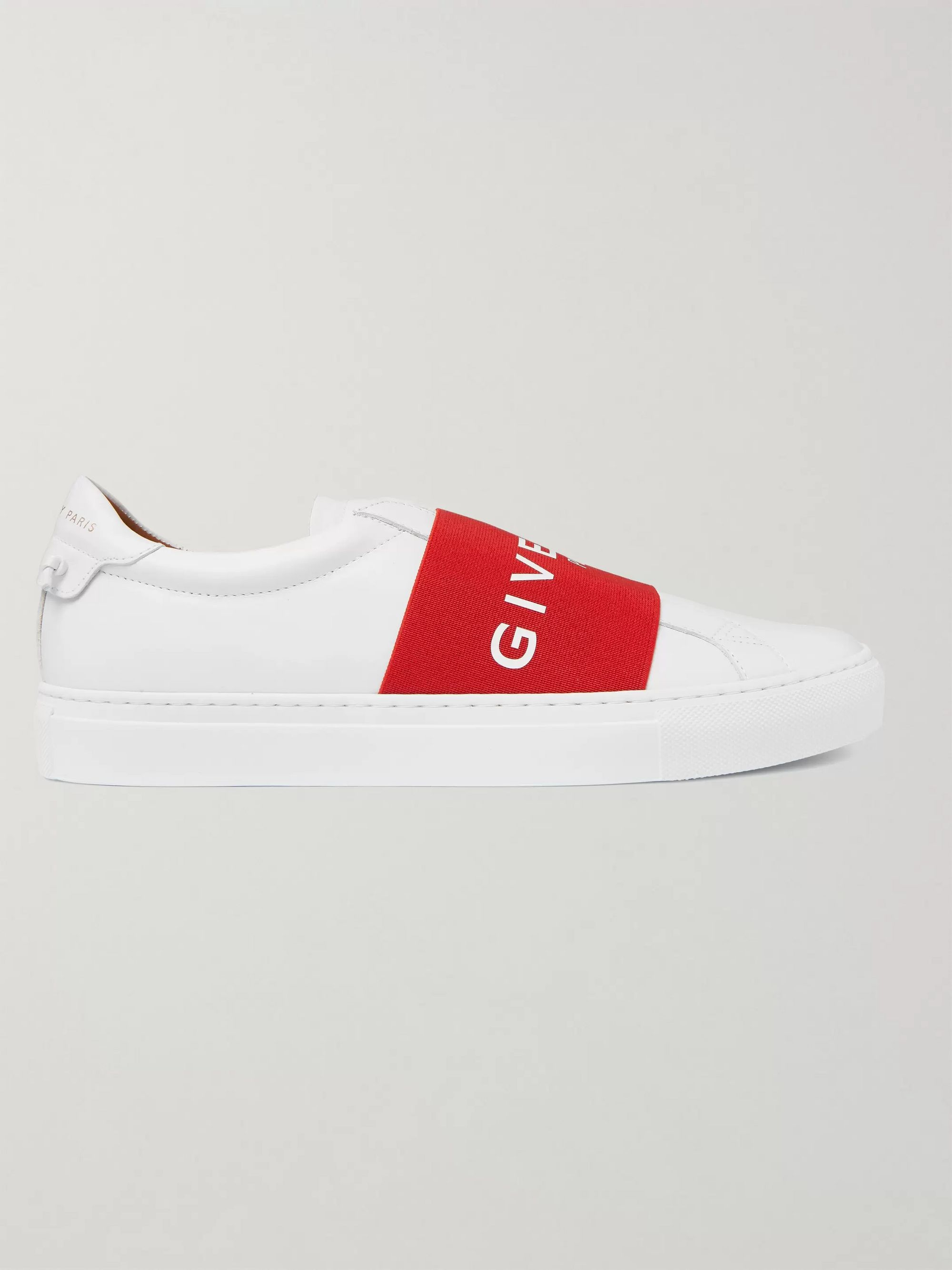 Givenchy Urban Street Logo-Print Leather Slip-On Sneakers