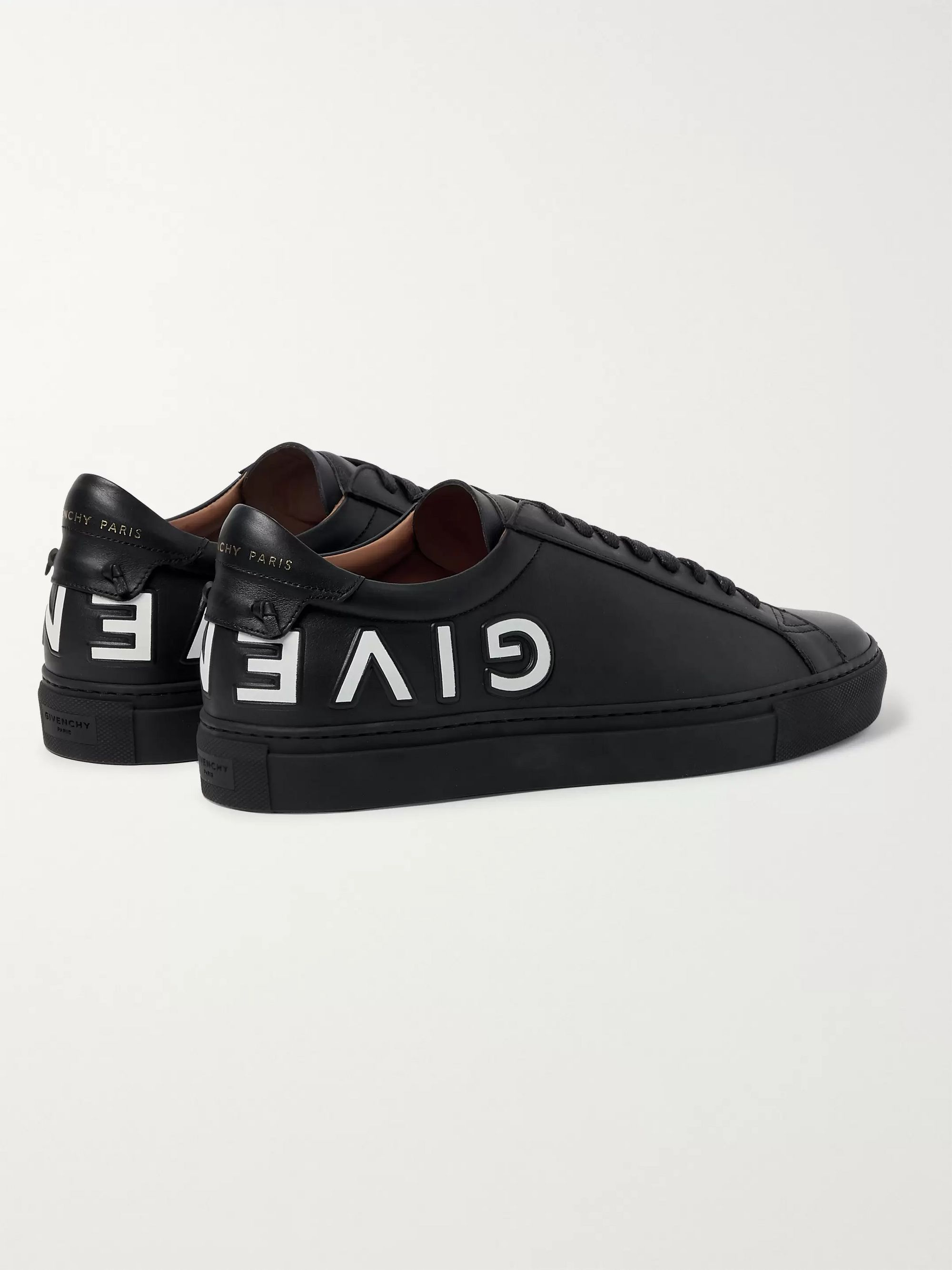 Givenchy Urban Street Logo-Embossed Leather Sneakers