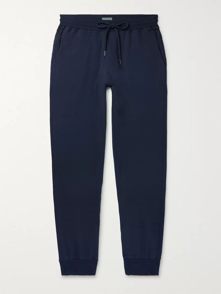 Hanro Loopback Stretch-Cotton Jersey Sweatpants