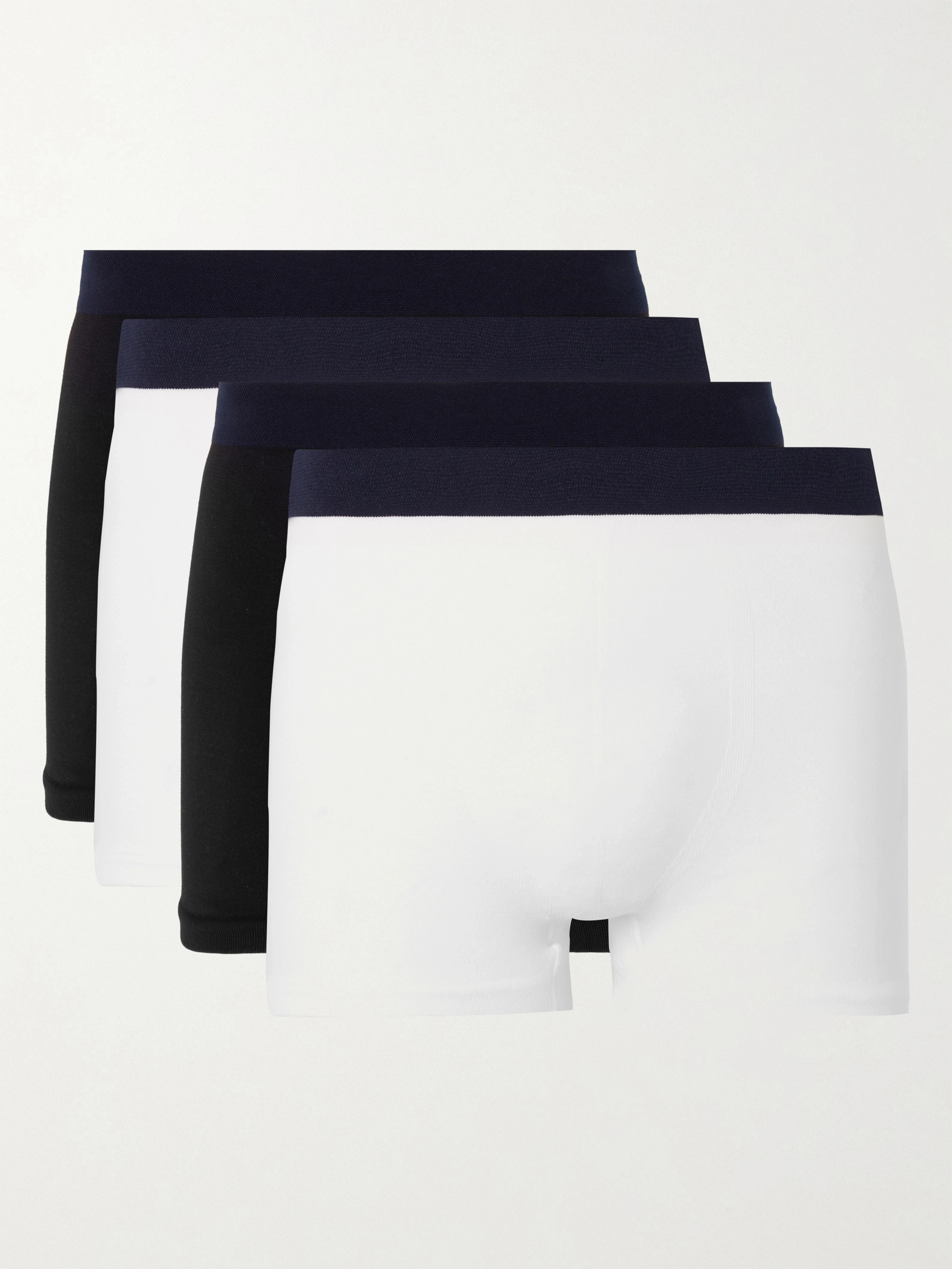 Hamilton and Hare Five-Pack Seamless Stretch-Jersey Boxer Briefs