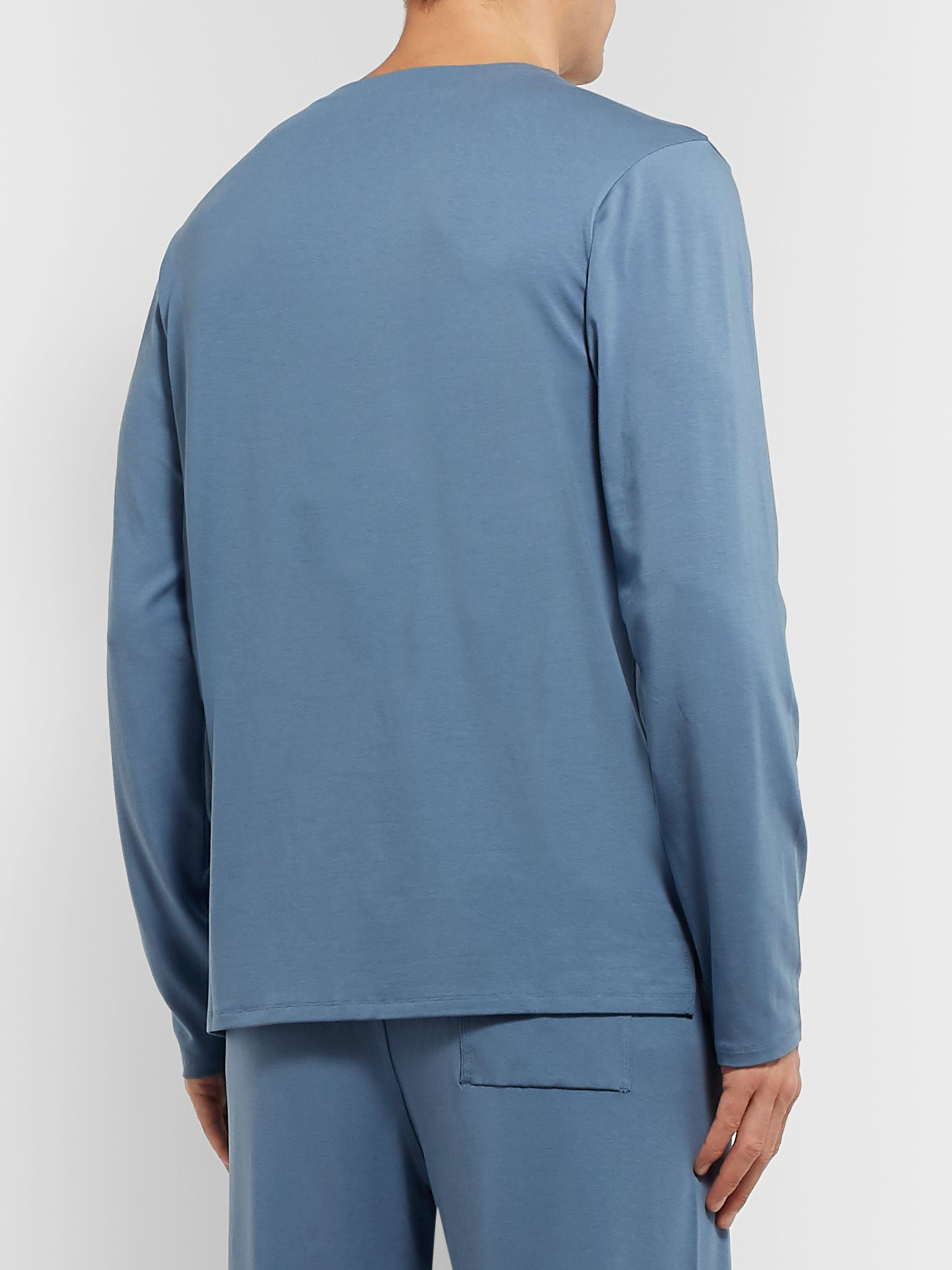 Hamilton and Hare Stretch-Lyocell and Cotton-Blend Pyjama Top