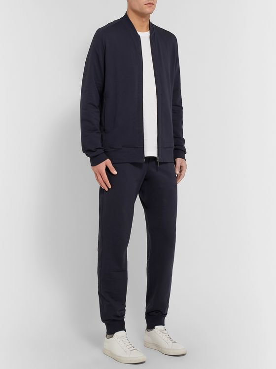 Hanro Loopback Stretch-Cotton Jersey Bomber Jacket