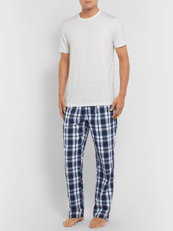 Hugo Boss Checked Cotton Pyjama Trousers