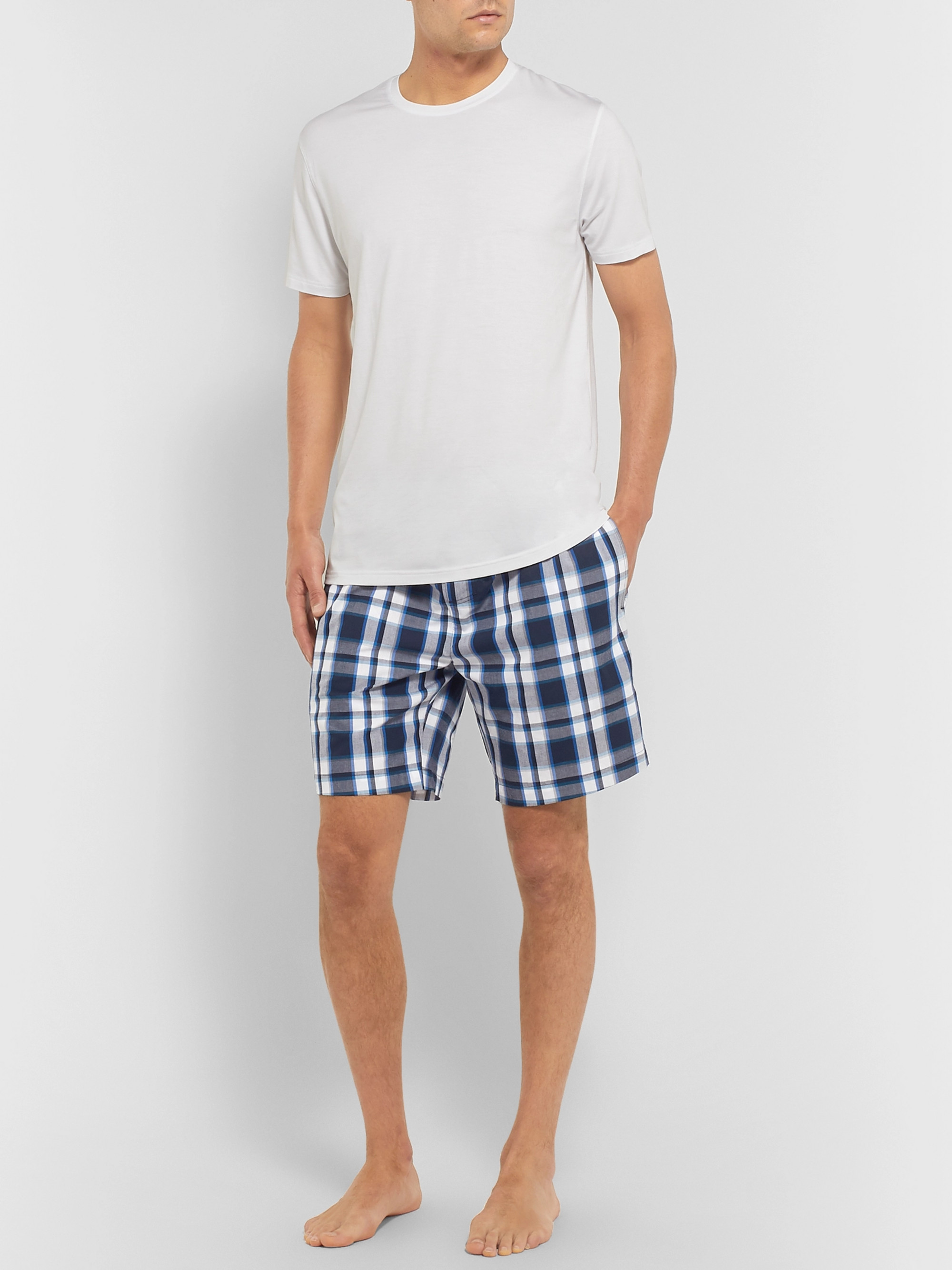 Hugo Boss Checked Cotton Pyjama Shorts