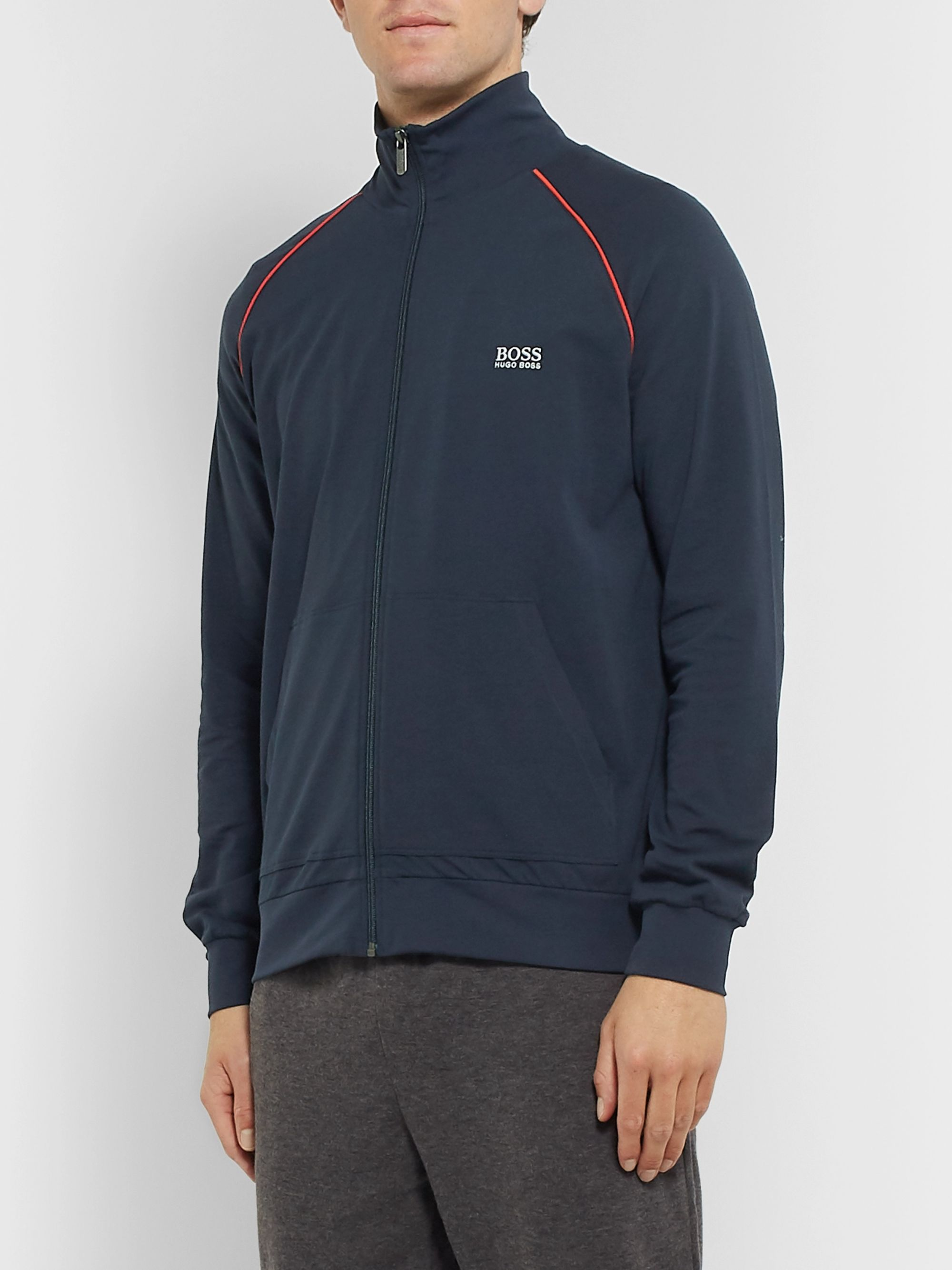 Hugo Boss Cotton-Blend Jersey Track Jacket