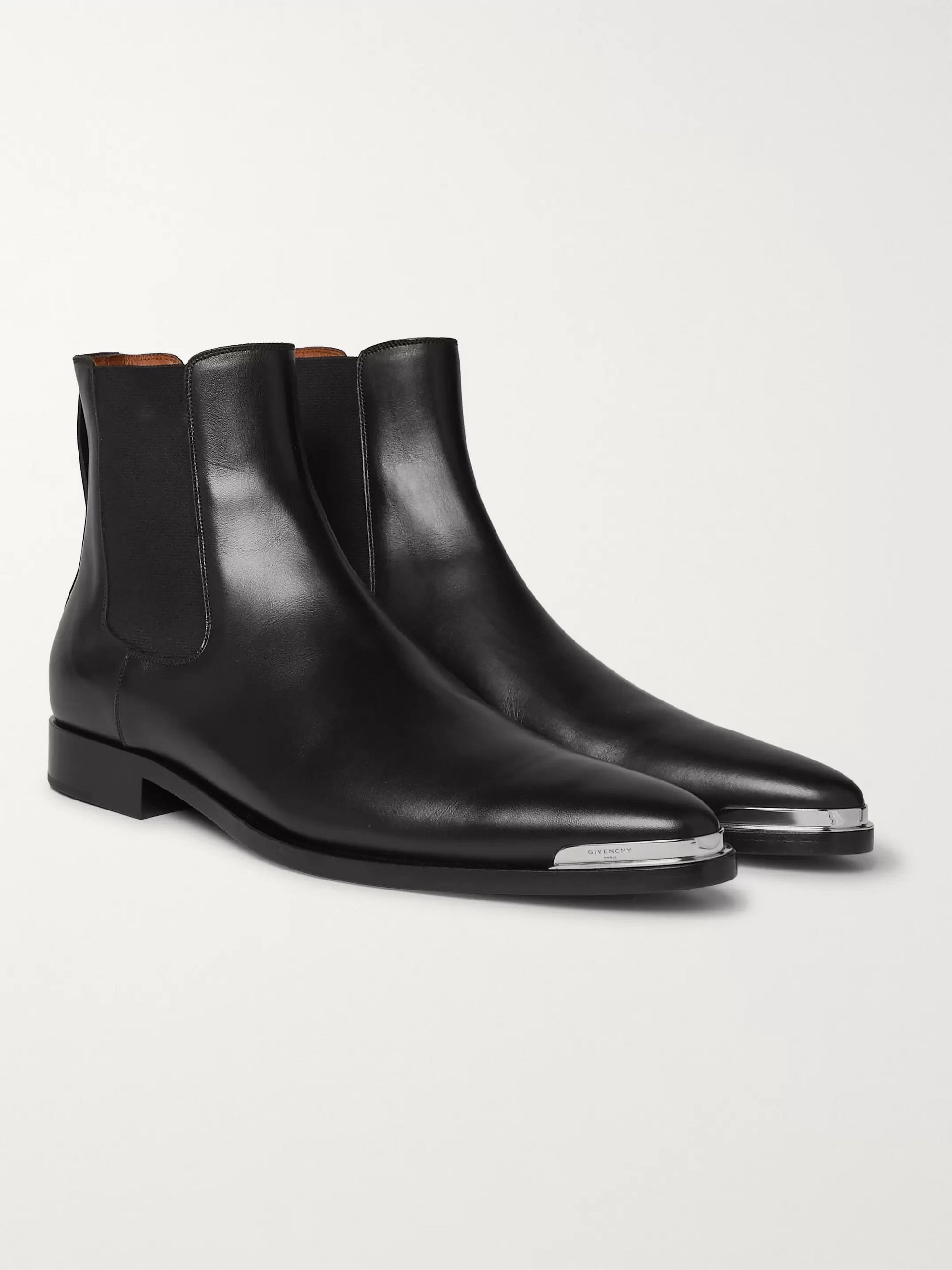 Dallas Leather Chelsea Boots by Givenchy