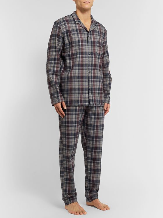 Hanro Checked Cotton Pyjama Set