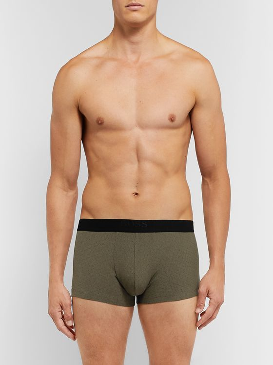 Hugo Boss Polka-Dot Stretch Cotton-Blend Boxer Briefs