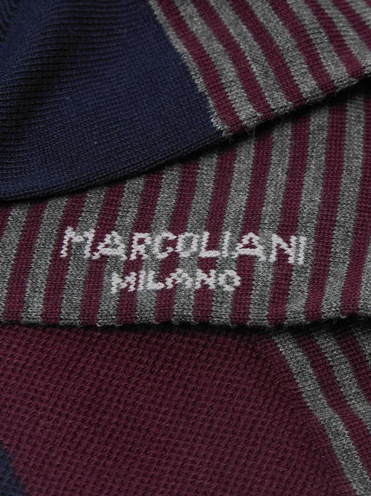 Marcoliani Striped Pima Cotton-Blend Socks