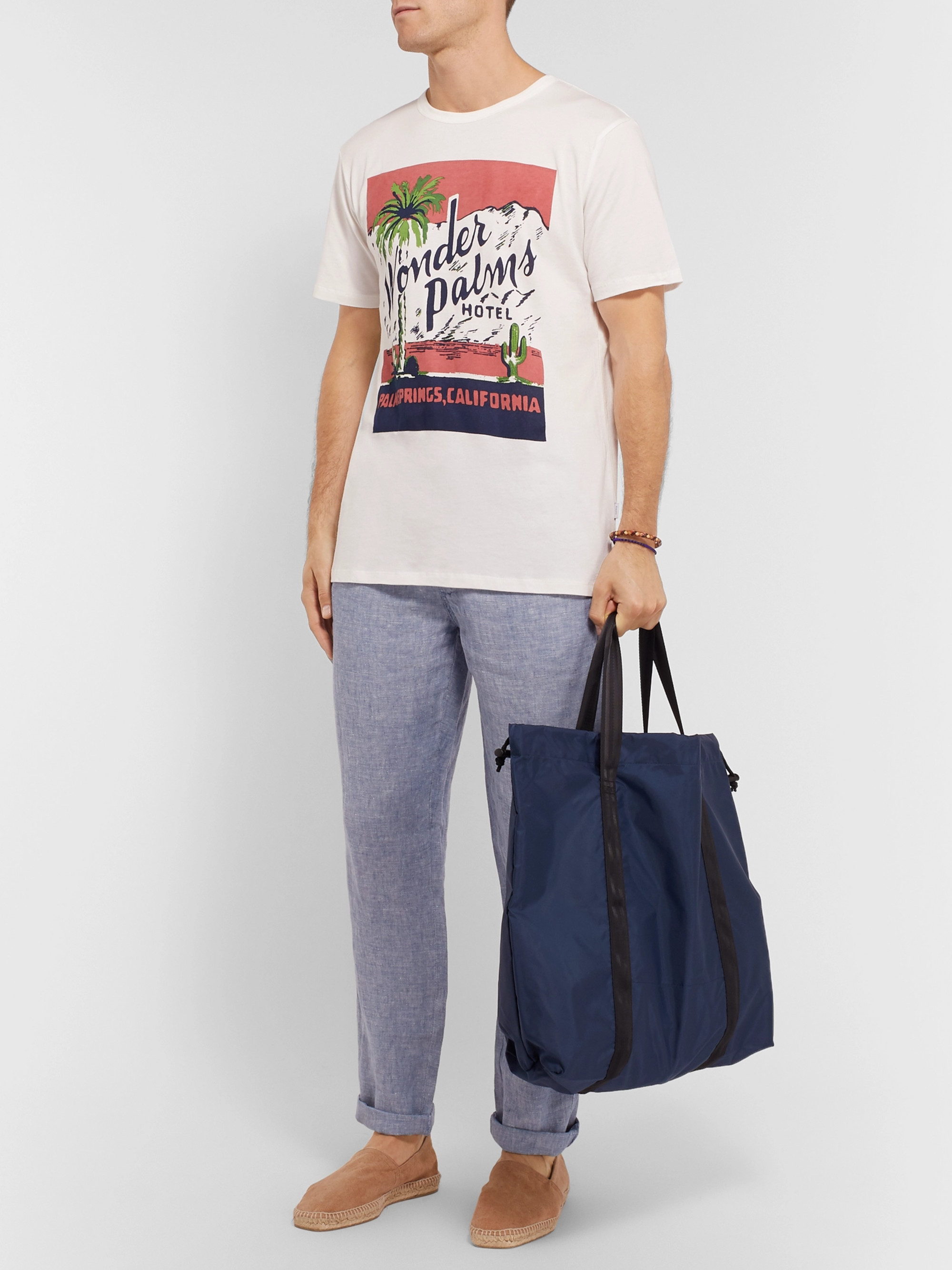 Onia Printed Cotton and Modal-Blend Jersey T-Shirt