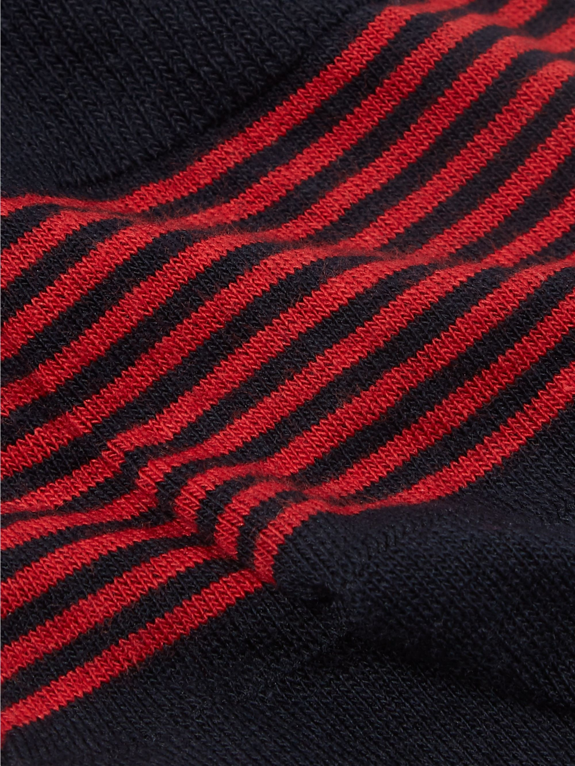 Pantherella Striped Stretch Cotton-Blend No-Show Socks