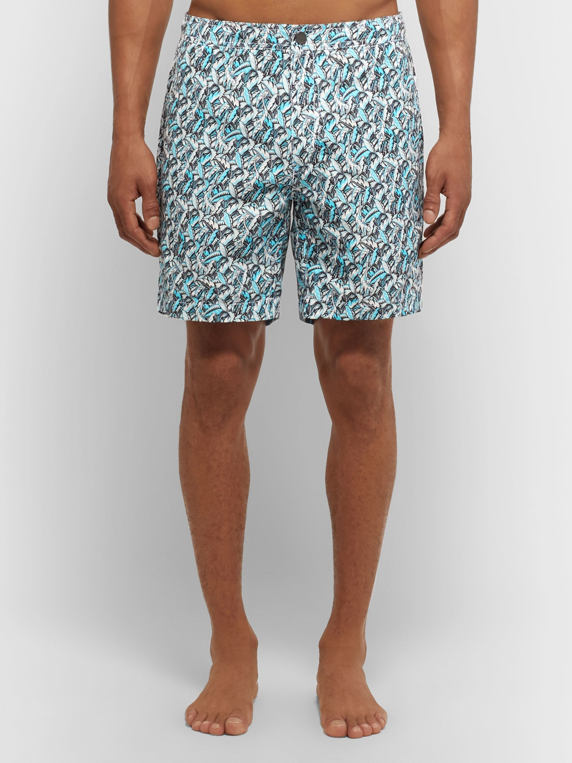 Onia Mid-Length Printed Swim Shorts