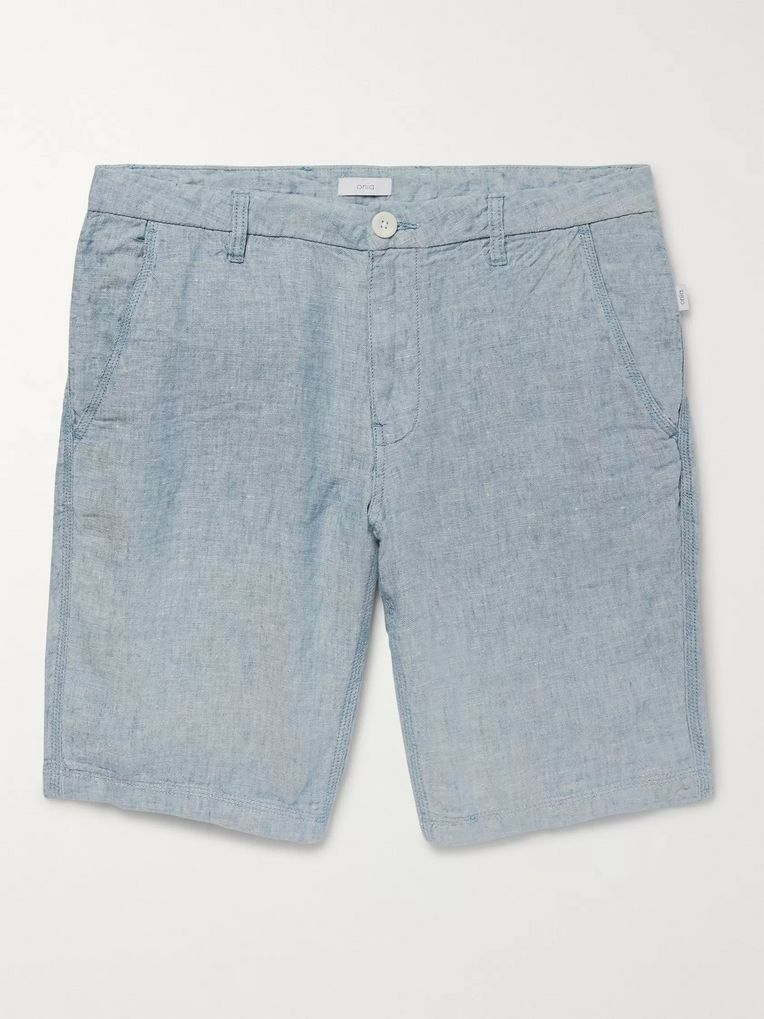 Onia Linen-Chambray Shorts