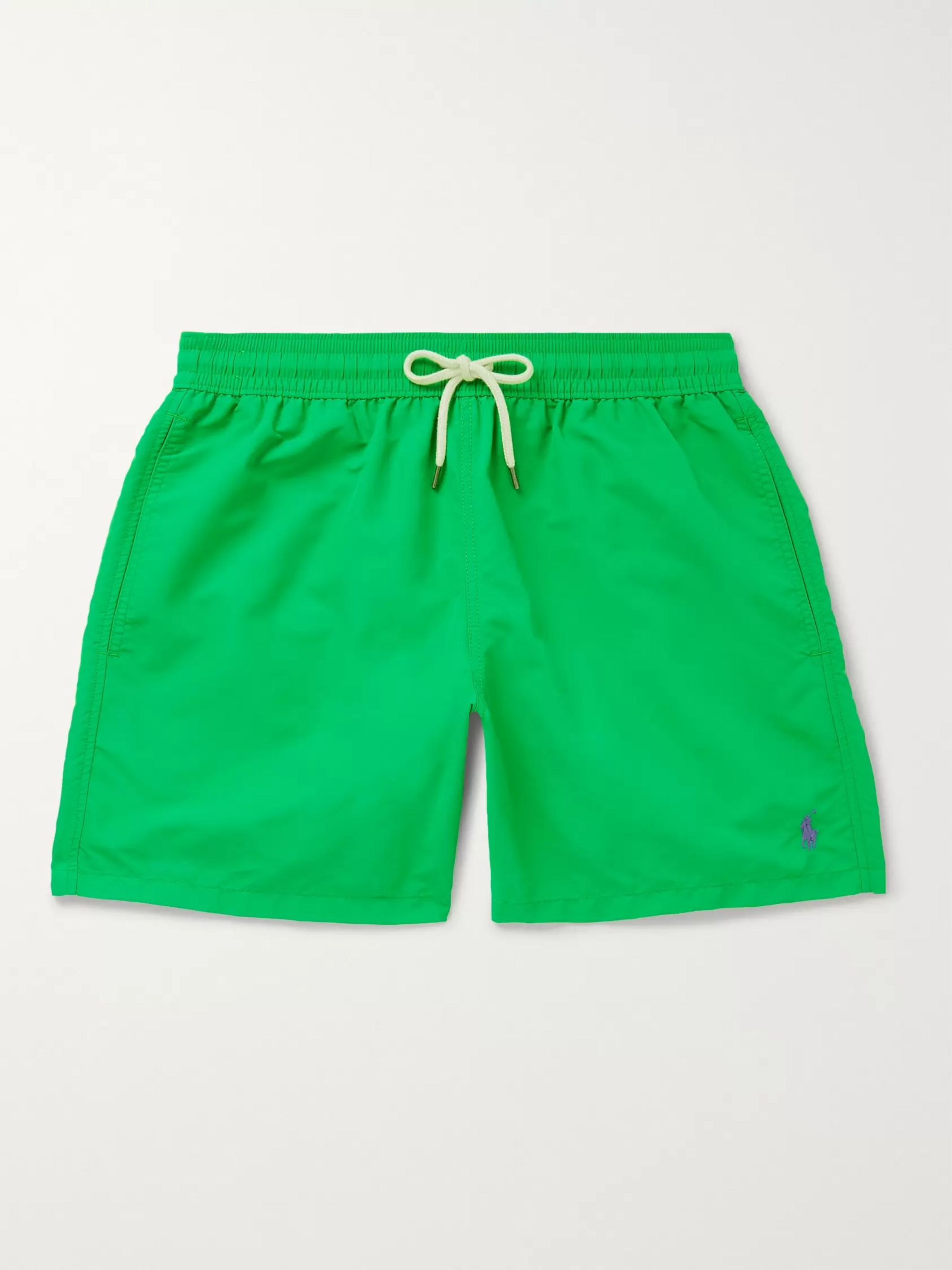 fashion lace up in hot products Green Mid-Length Swim Shorts   Polo Ralph Lauren   MR PORTER