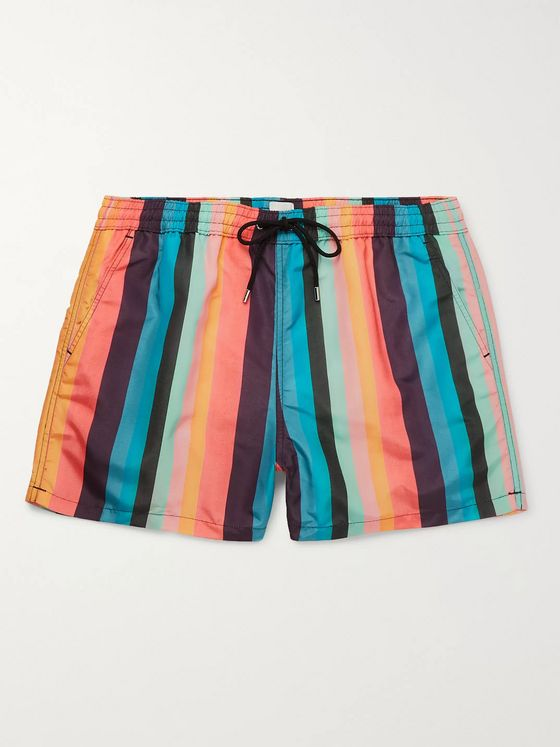 Paul Smith Slim-Fit Striped Swim Shorts