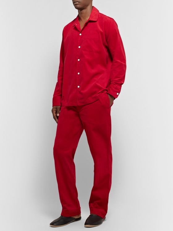 Sleepy Jones Henry Cotton-Corduroy Pyjama Shirt