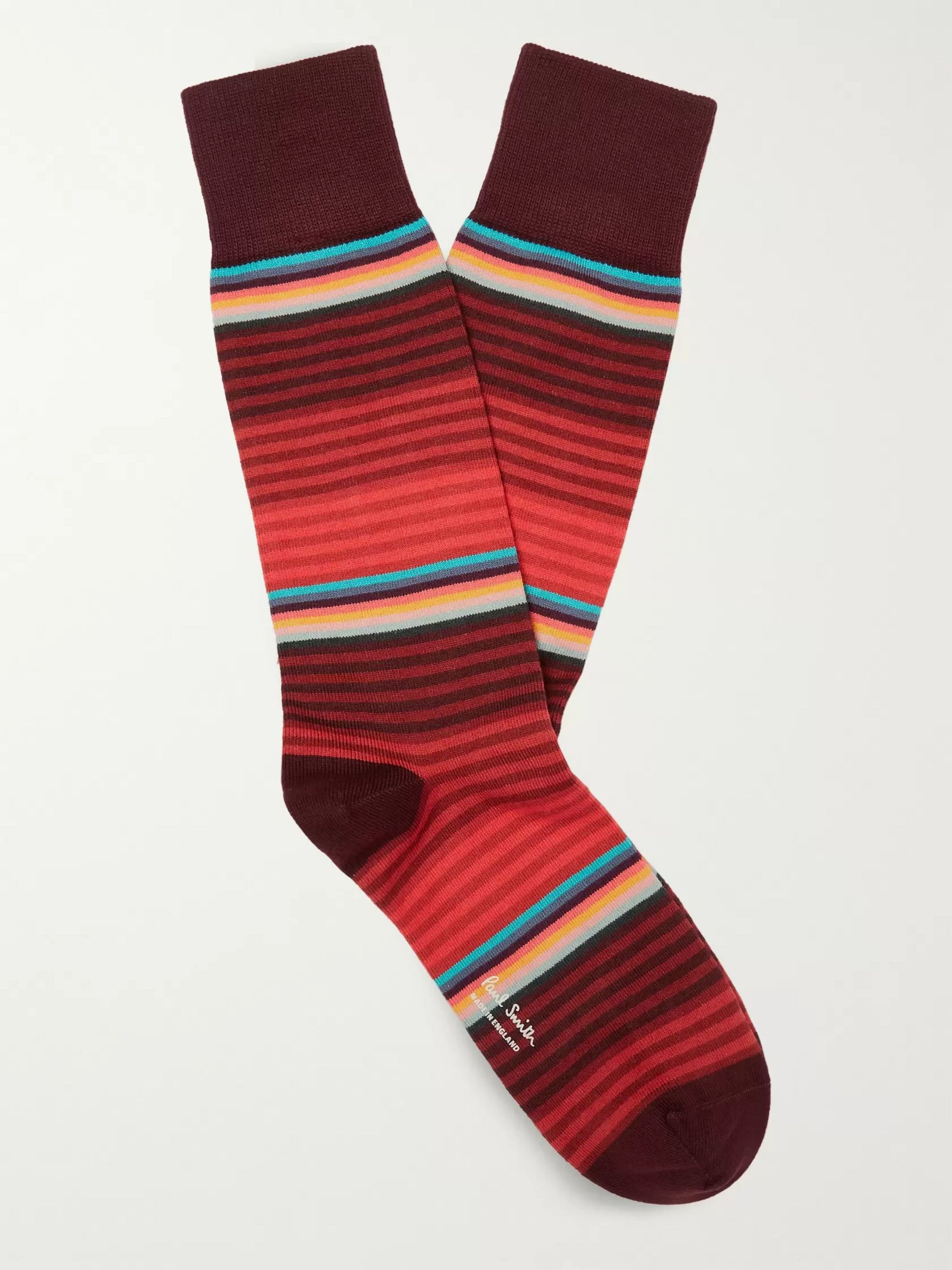 Striped Stretch Cotton Blend Socks by Paul Smith