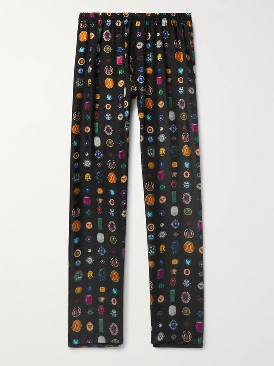 Versace Printed Silk-Twill Pyjama Trousers
