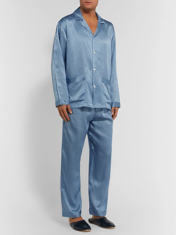 Zimmerli Printed Silk-Satin Pyjama Set