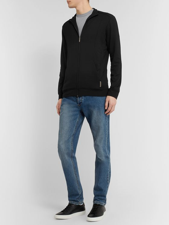 Zimmerli Slim-Fit Stretch-Jersey Zip-Up Jacket