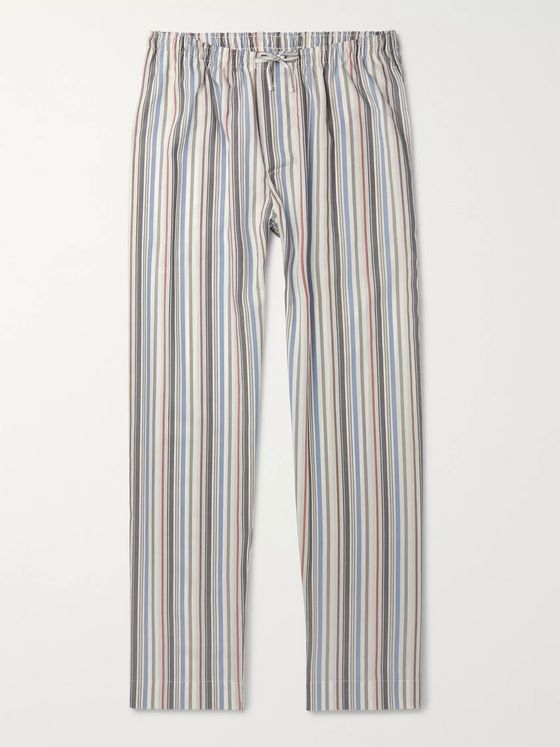 Zimmerli Striped Lyocell and Cotton-Blend Poplin Pyjama Trousers