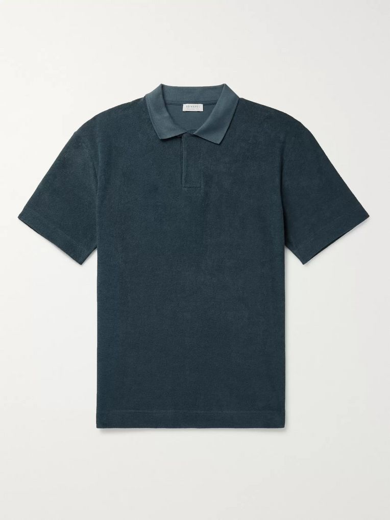 Sunspel Organic Cotton-Terry Polo Shirt