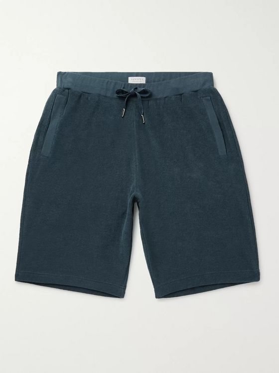 Sunspel Cotton-Terry Drawstring Shorts