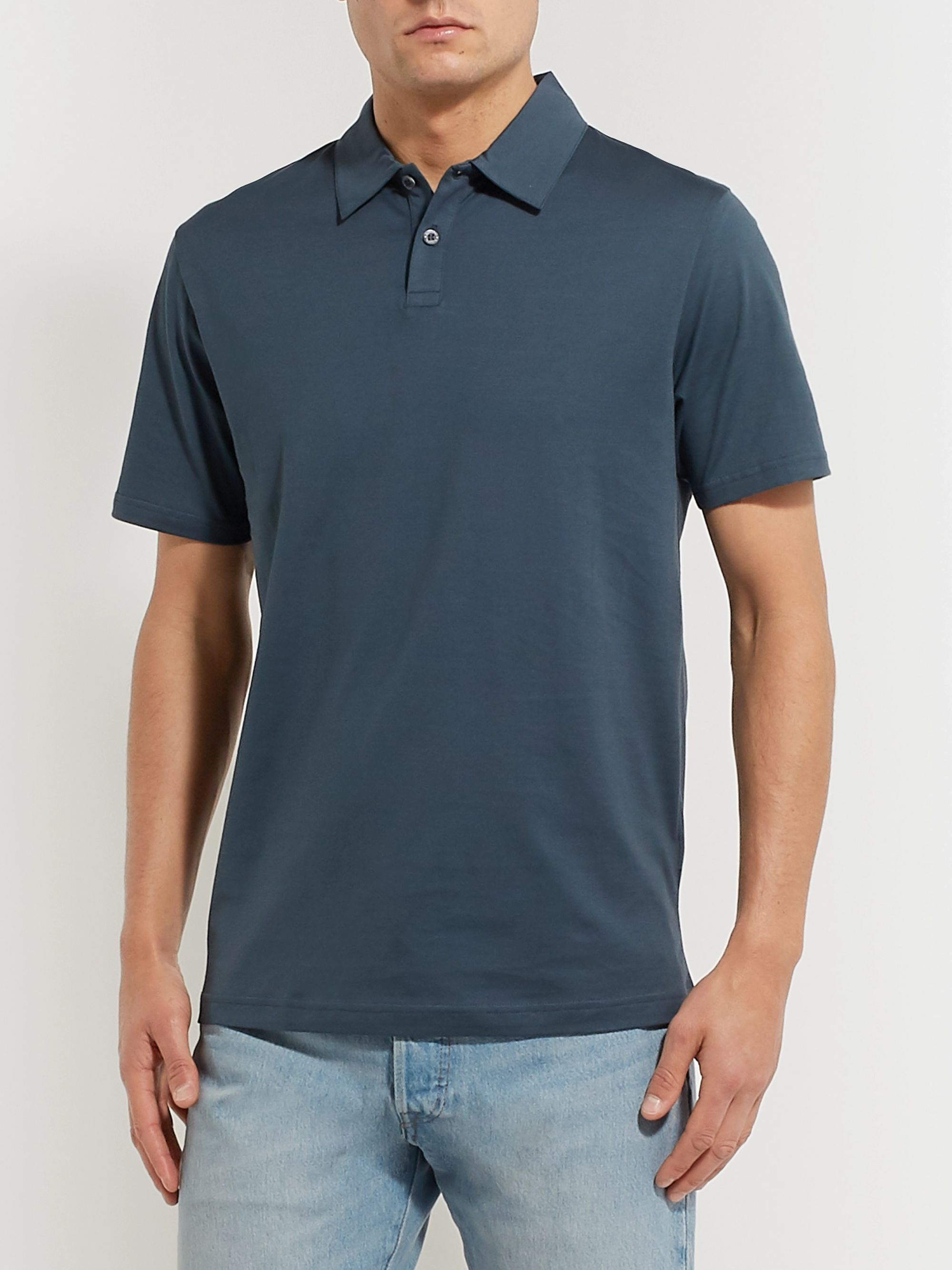 Sunspel Cotton-Jersey Polo Shirt