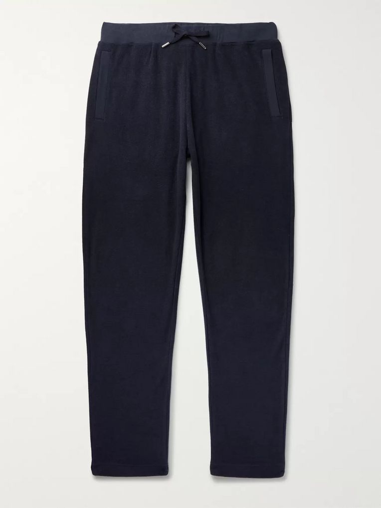Sunspel Slim-Fit Cotton-Terry Sweatpants