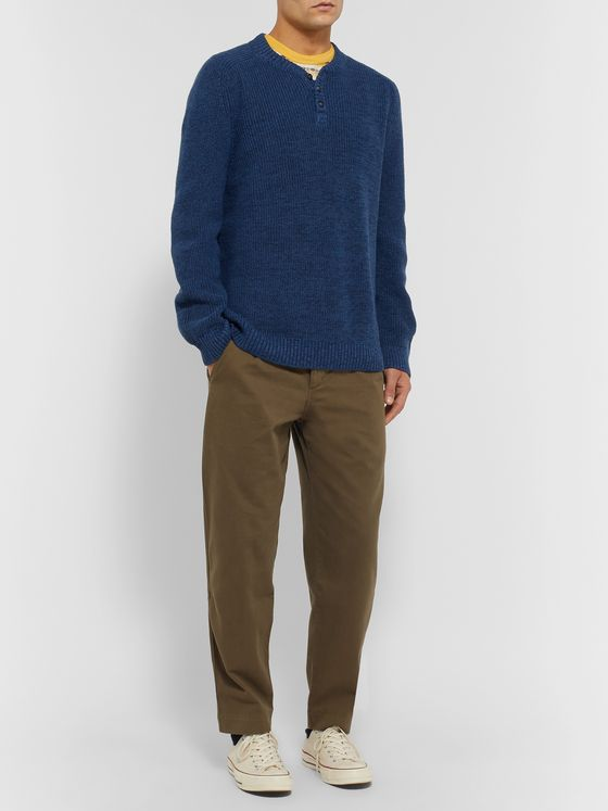Mollusk Mélange Cotton Henley Sweater