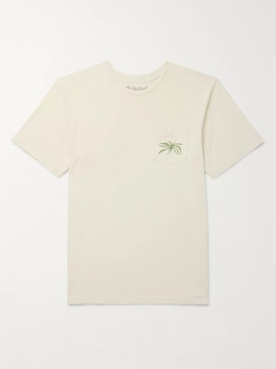 Mollusk Printed Cotton-Jersey T-Shirt